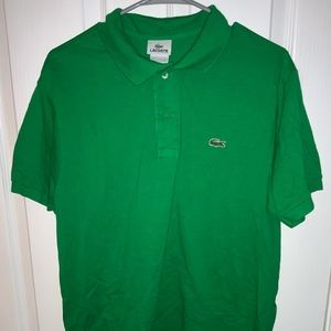 Lacoste Solid Green Men's Polo